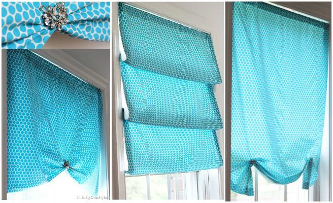 DIY No Sew Window Shade Tutorial