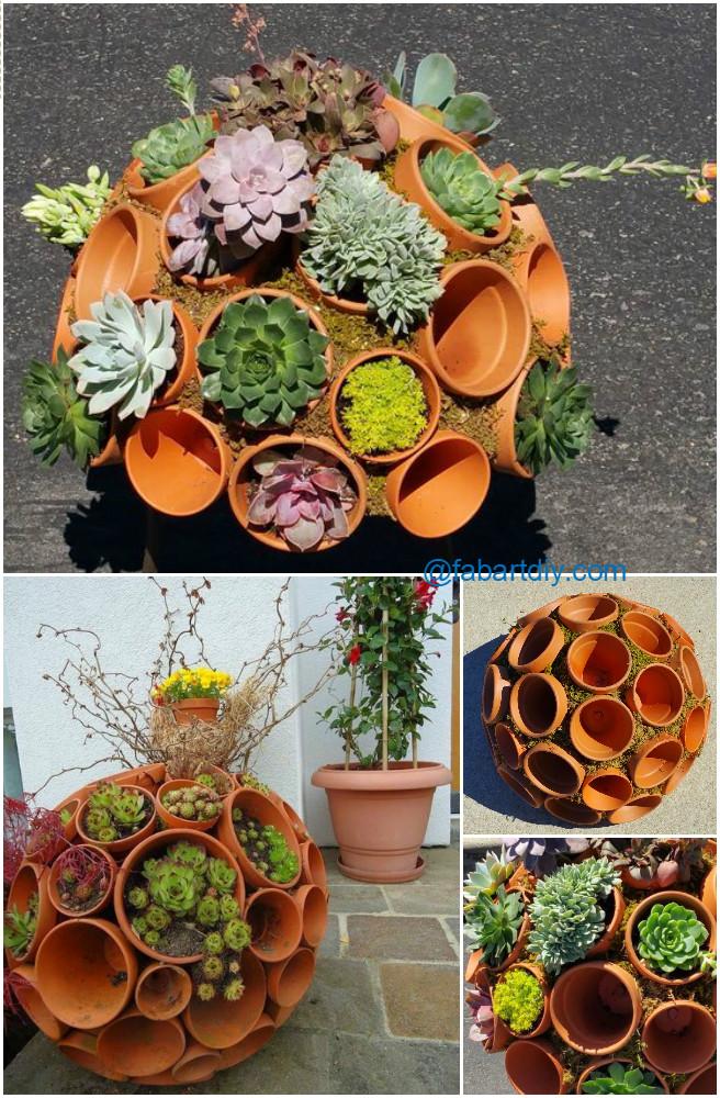 DIY Succulent Clay Pot Planter Sphere Garden Art Tutorial-video