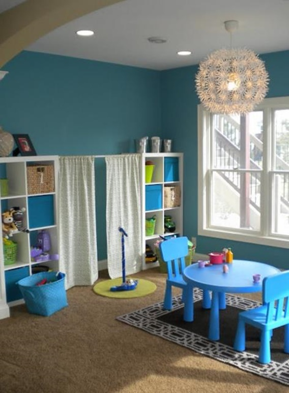 Tension Rod Uses to Keep Home Organized-Play room