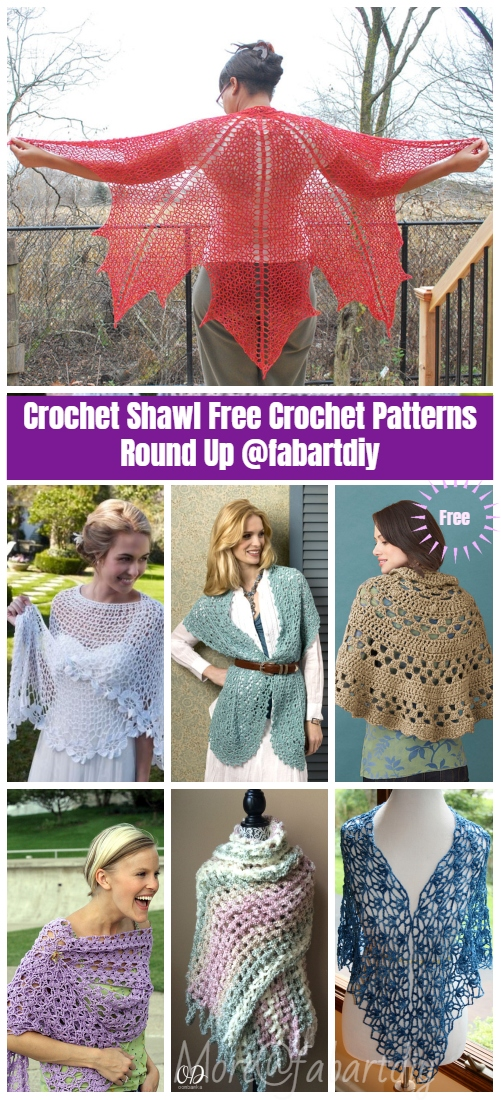 Knit Crochet Shawl Pattern Round Up
