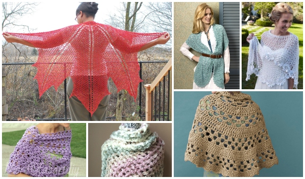 Crochet Shawl Free Crochet Patterns & Paid Round Up