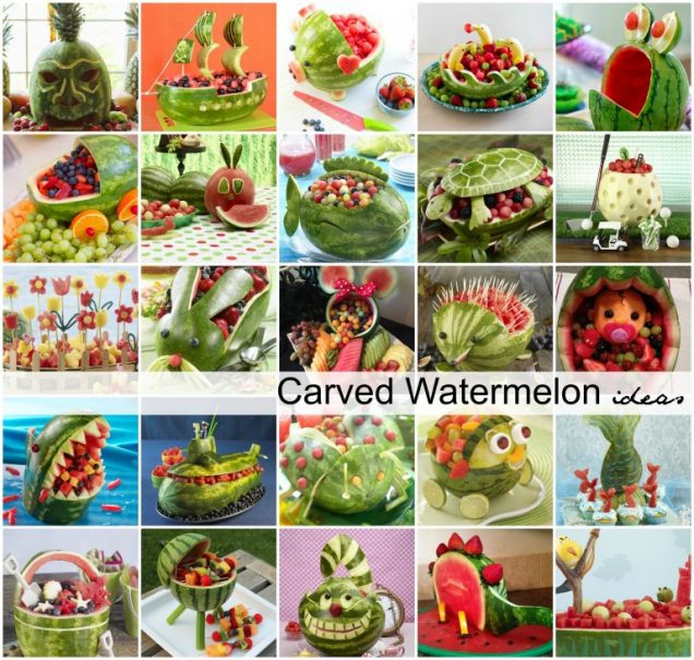 DIY Carved Watermelon Ideas Tutorial