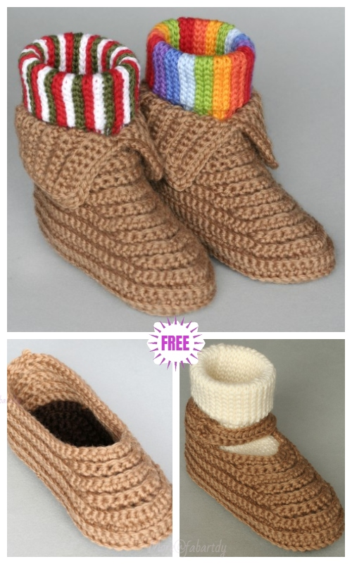 DIY Crochet Soccasins Shoe Free Pattern- Video