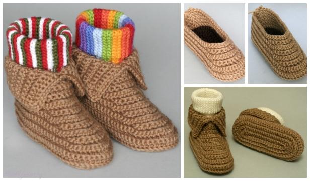 DIY Crochet Soccasins Shoe Free Pattern- Video