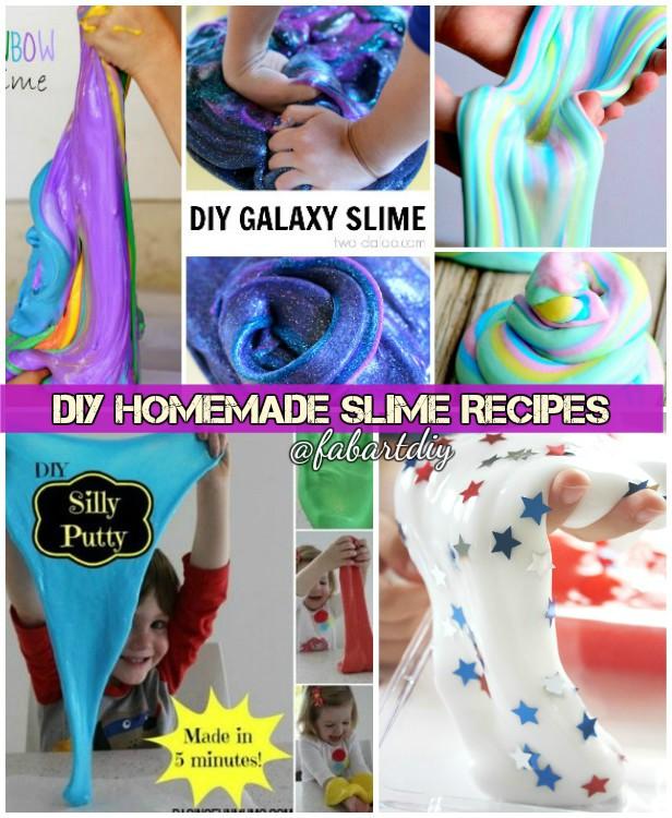 DIY Homemade Slime Recipes