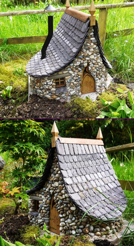 DIY Miniature Stone Fairy House Cottage Tutorial