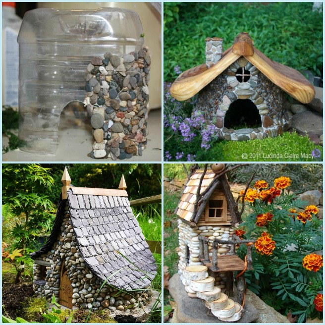 DIY Miniature Stone Fairy House Tutorial - Fairy house ideas diy