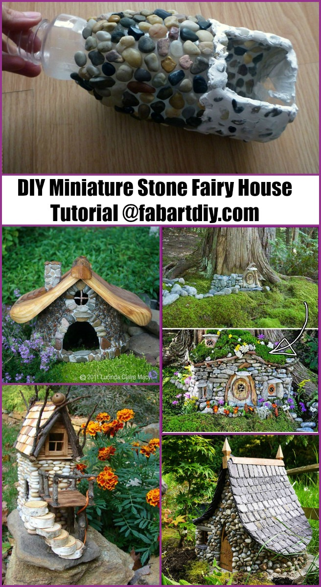 DIY Miniature Stone Fairy House Tutorials