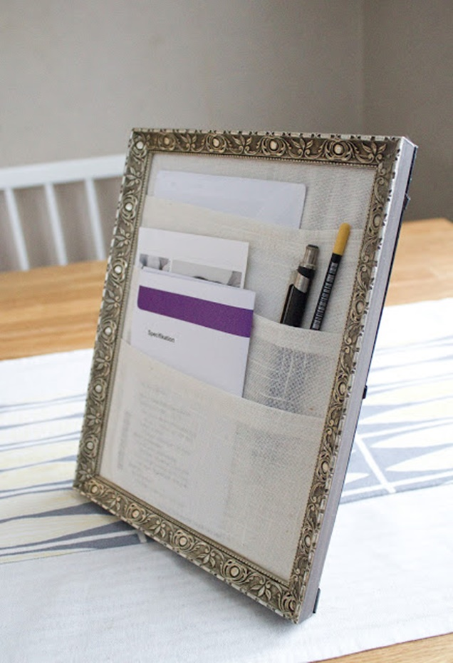 DIY Picture Frame Table organizer Tutorial