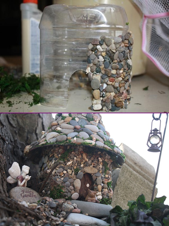Diy miniature stone fairy house tutorial diy stone fairy house from plastic bottle tutorial publicscrutiny Gallery