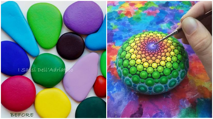 How to crochet a beautiful and colorful mandala diy crafts tutorial - How To Paint Mandala Pebble Rock Stones