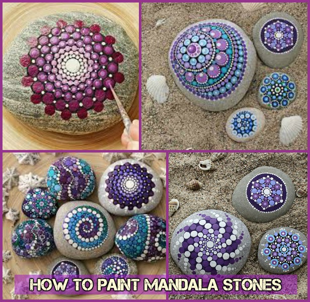 How to Paint Mandala Pebble Rock Stones-Video