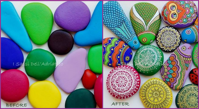 How to Paint Mandala Pebble Rock Stones Tutorial Video