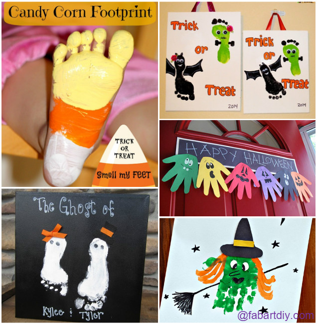 12 Kids Halloween Handprint and Footprint Craft Ideas