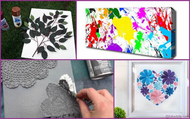 Diy wall canvas craft ideas for home wall decoration - Ways to decorate your walls ...
