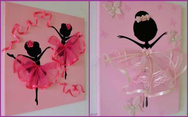 10 Fabulous Ways to Decorate Your Empty Wall-dancing tutu canvas