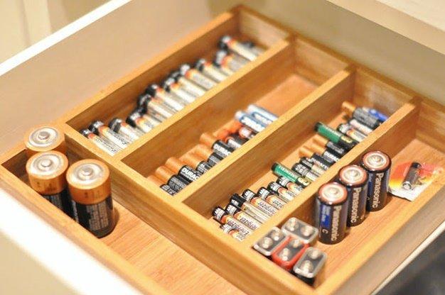 Battery Storage-Alternative Uses of Cutlery Tray 2