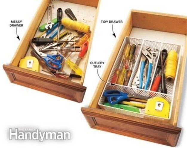 Tool Organization- Alternative Uses of Cutlery Tray 3