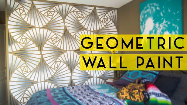 DIY Abstract Geometric Wall Painting Technique-Video