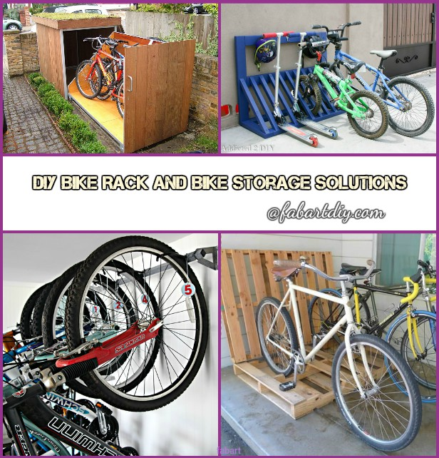 Diy bicycle rack Hanging Diy Bike Rack Storage Solution Tutorials Fab Art Diy Tutorials Bike Storage Solutions