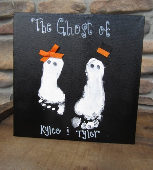 DIY Halloween Footprint Ghost Tutorial