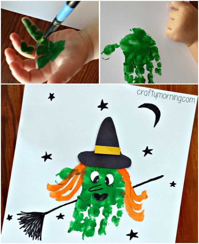 DIY Halloween Handprint Witch Tutorial