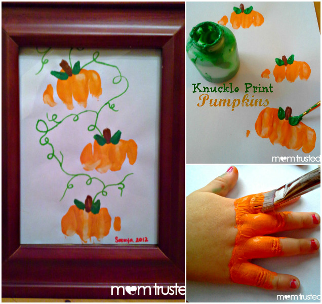 DIY Knuckle Print Pumpkins Art Tutorial