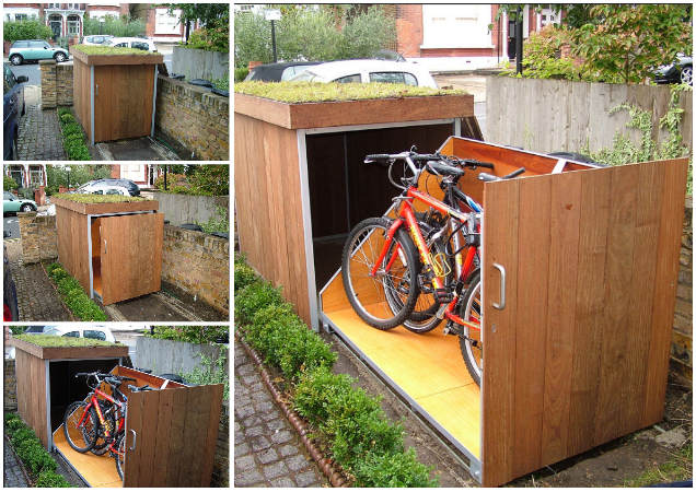 DIY Outdoor Slide Out Bike Storage Solutions