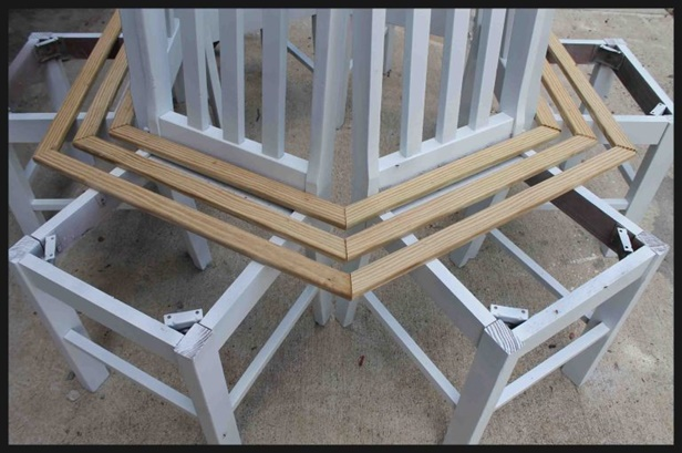 Surprising Recycled Diy Chair Tree Bench Tutorial Frankydiablos Diy Chair Ideas Frankydiabloscom