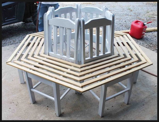 How to Build Recycled Chair Tree Bench