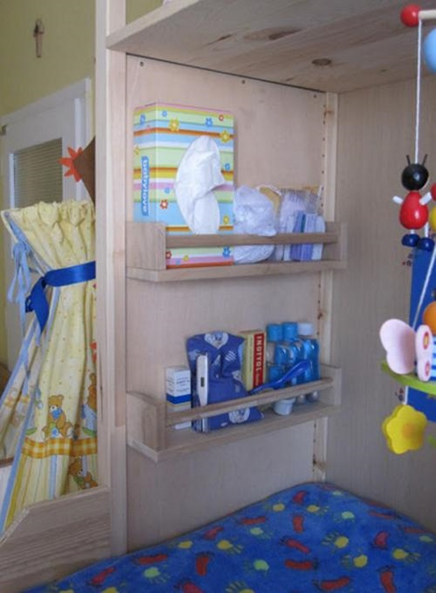 IKEA Spice Racks for Baby Changing Station-DIY Organization Hacks