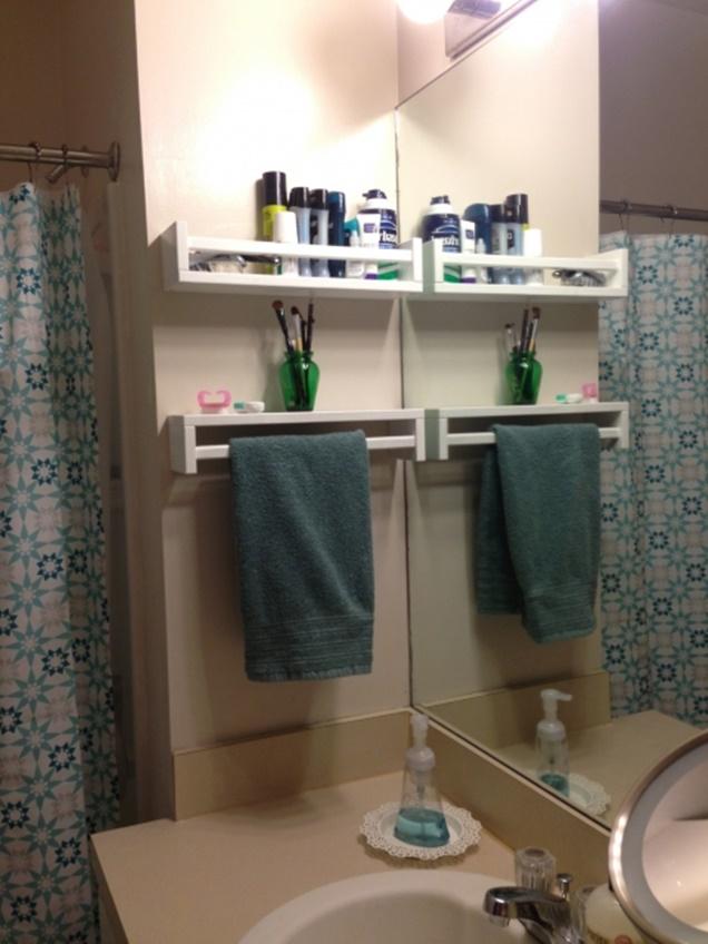 IKEA Spice Racks for Bathroom Organizer DIY Organization Hacks. 16 DIY Organization Hacks to Use IKEA Spice Racks