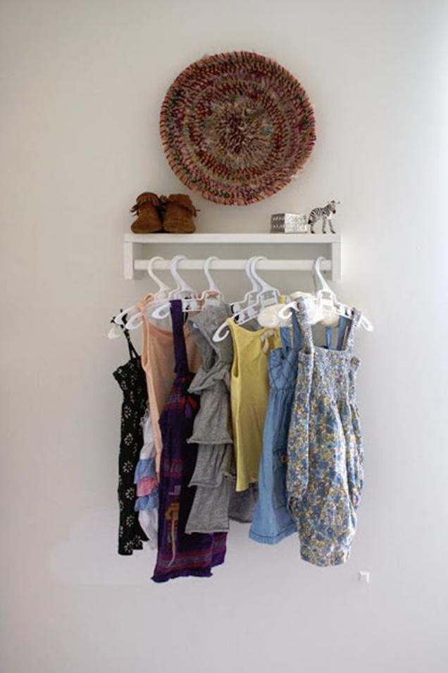 IKEA Spice Racks for Nursery Wardrobe-DIY Organization Hacks