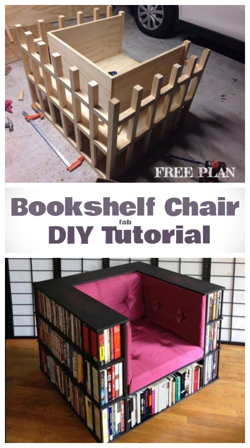 DIY Bookshelf Bookcase Chair Tutorial