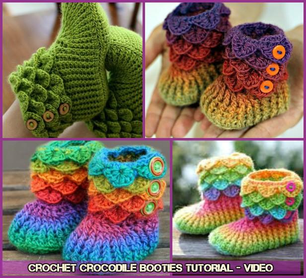 DIY Crochet Crocodile Bootie Free Pattern -video
