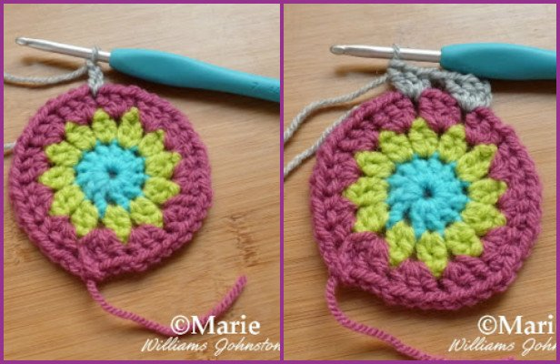 DIY Crochet Sunburst Granny Square Free Pattern (Video)