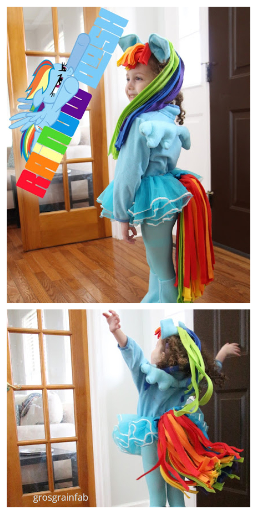 20+ DIY Halloween Costume Tutorials for All Ages -DIY Rainbow Dash Costume Tutorials