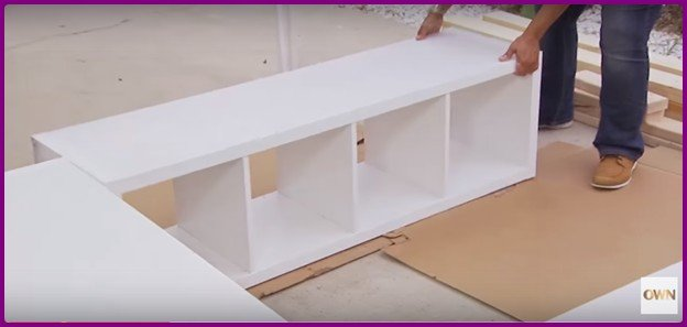 DIY IKEA Bookshelf Platform Bed with Storage -Video