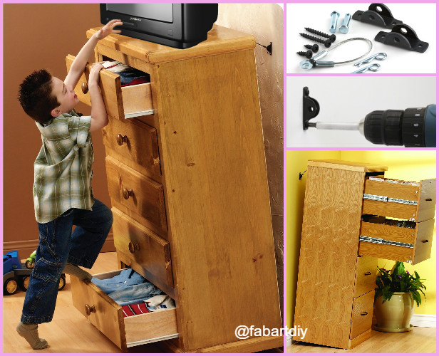 Parenting Hack: Protect Child With DIY Furniture Anchors-Video