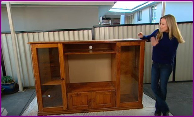 Recycle TV Cabinet into Kids Toy Kitchen (Video)