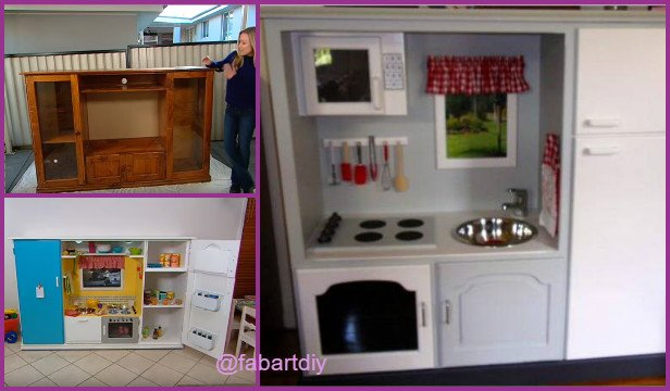 recycle tv cabinet into kids toy kitchen video - Diy Kids Kitchen