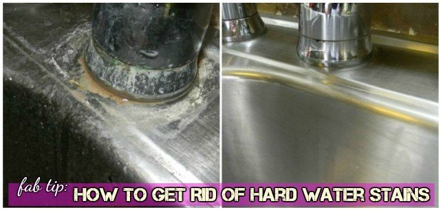 DIY 3-Ingredient Solution to Remove Hard Water Stains Faucet