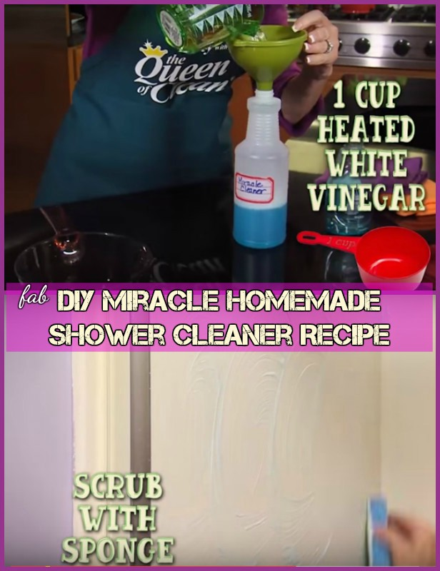 DIY Miracle Homemade Shower Cleaner Recipe