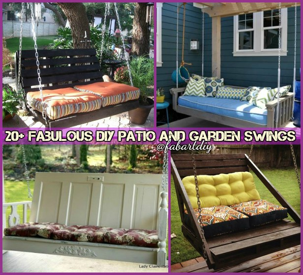 DIY Patio and Garden Swings Free Plan Tutorials @ fabartdiy