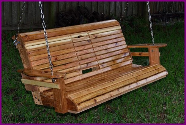 Roll Back Porch Swing Bench Free Plan