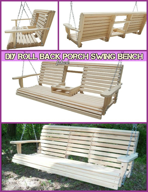 Fantastic Diy Roll Back Porch Swing Bench Free Plan Download Free Architecture Designs Pushbritishbridgeorg