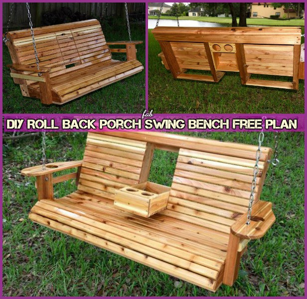 Diy Roll Back Porch Swing Bench Free Plan