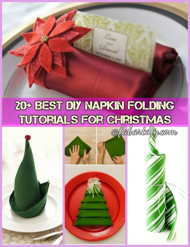20+ Best DIY Napkin Folding Tutorials for Christmas