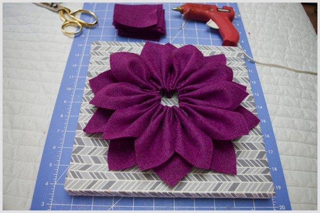 DIY Beautiful 3D Felt Dahlia Flower Wall Art Tutorial