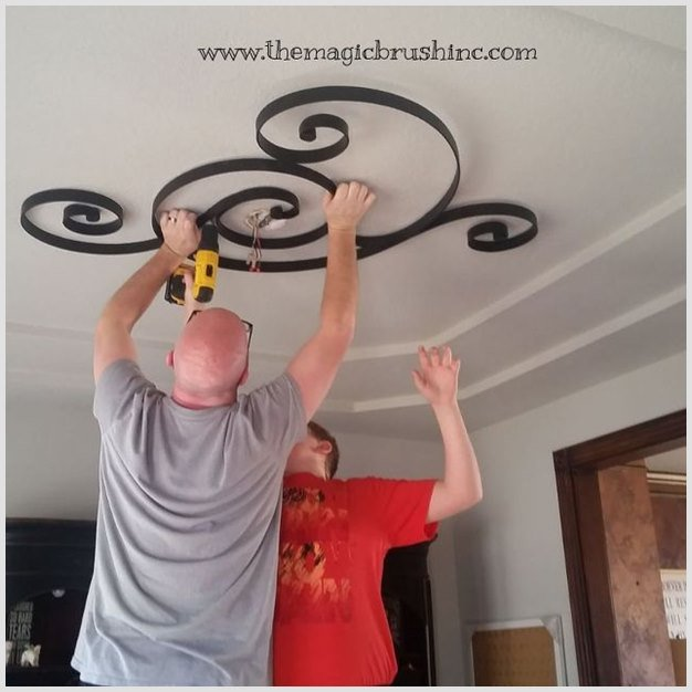 DIY Hanging Iron Wall Decor Ceiling Upgrade Tutorial